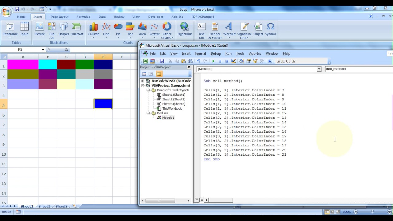 Microsoft Excel How To Set Cells Background Color Using Vba 11