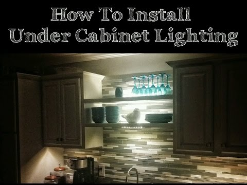 How To Install Under Cabinet LED Lights From IKEA - Our House DIY