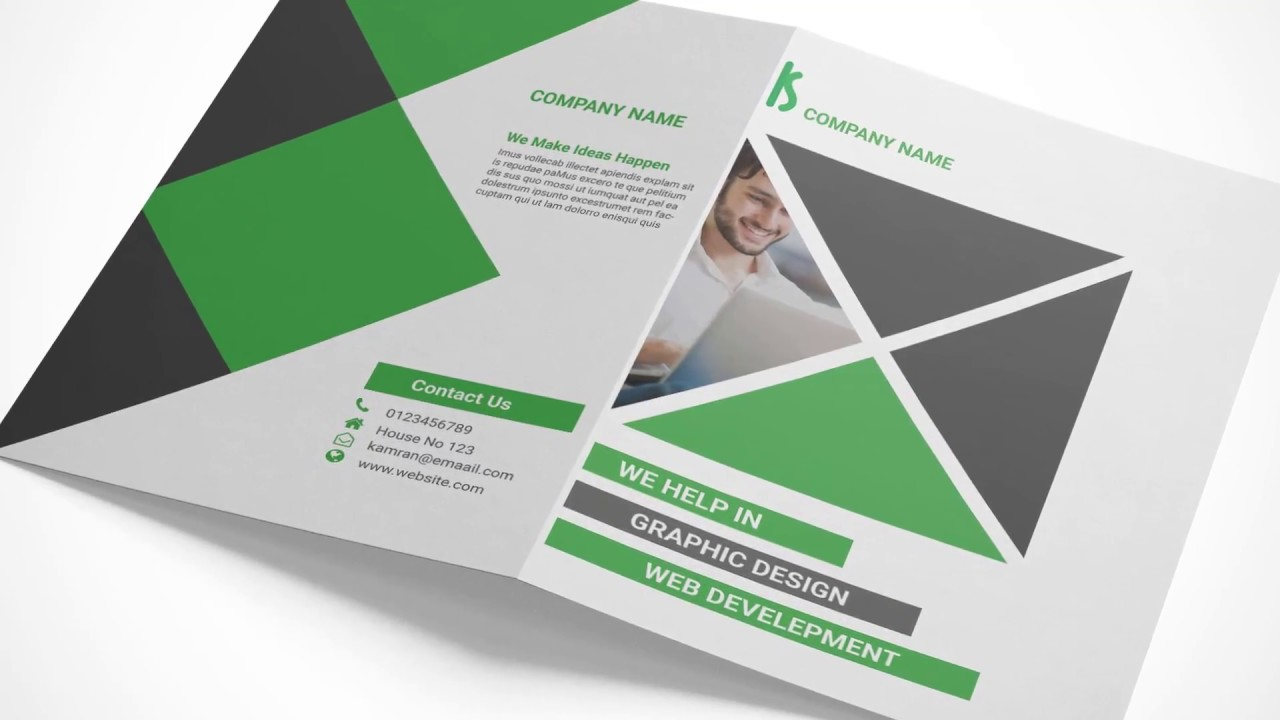 creating a bi fold brochure mockup in adobe photoshop