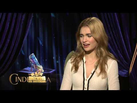 Lily James UNCUT Interview Cinderella