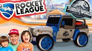 LOS COCHES DE JURASSIC WORLD en ROCKET LEAGUE!! Juegos y aplicaciones para niños