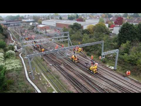 Watch: 26km Of New Overhead Wire Installed Between Norwich And London