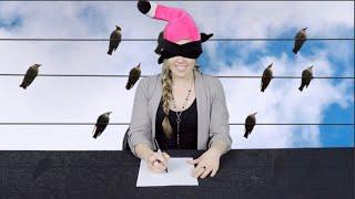 KHAK Staff Draws Birds Blindfolded on