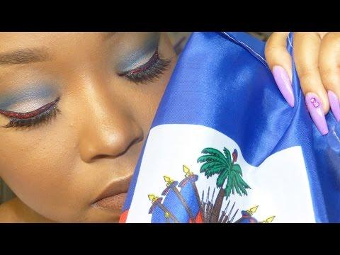 Haitian Flag Day Inspired Makeup Tutorial | SHEISROYALTY