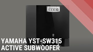 yAMAHA YST - SW315 Subwoofer System  sound good Bass