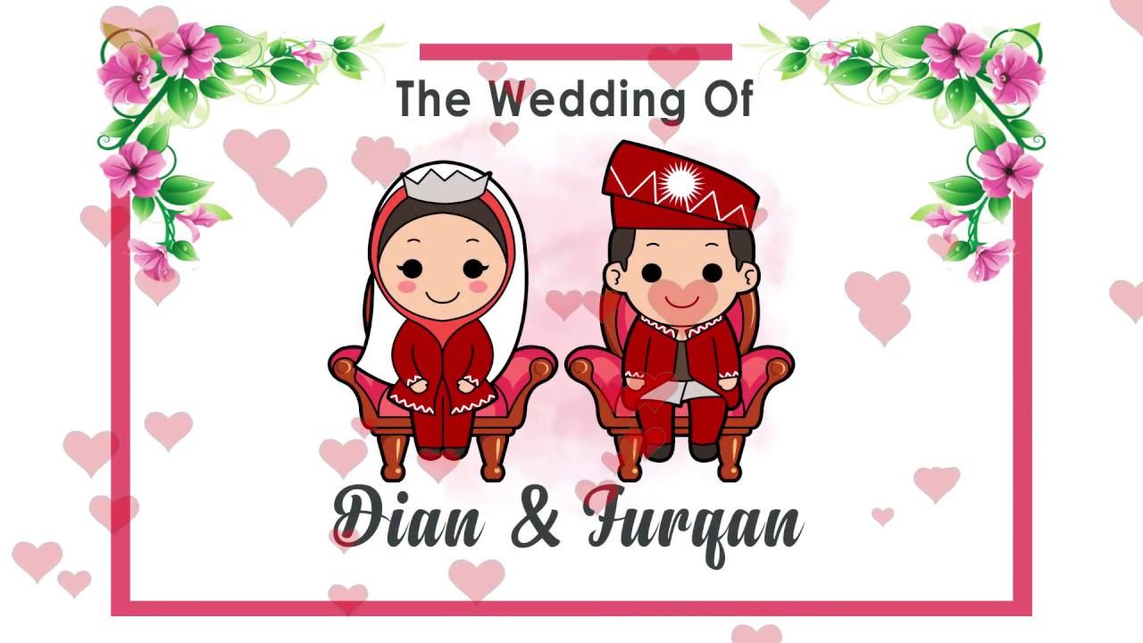 Wedding Invitation Of Dian + Furqan - YouTube