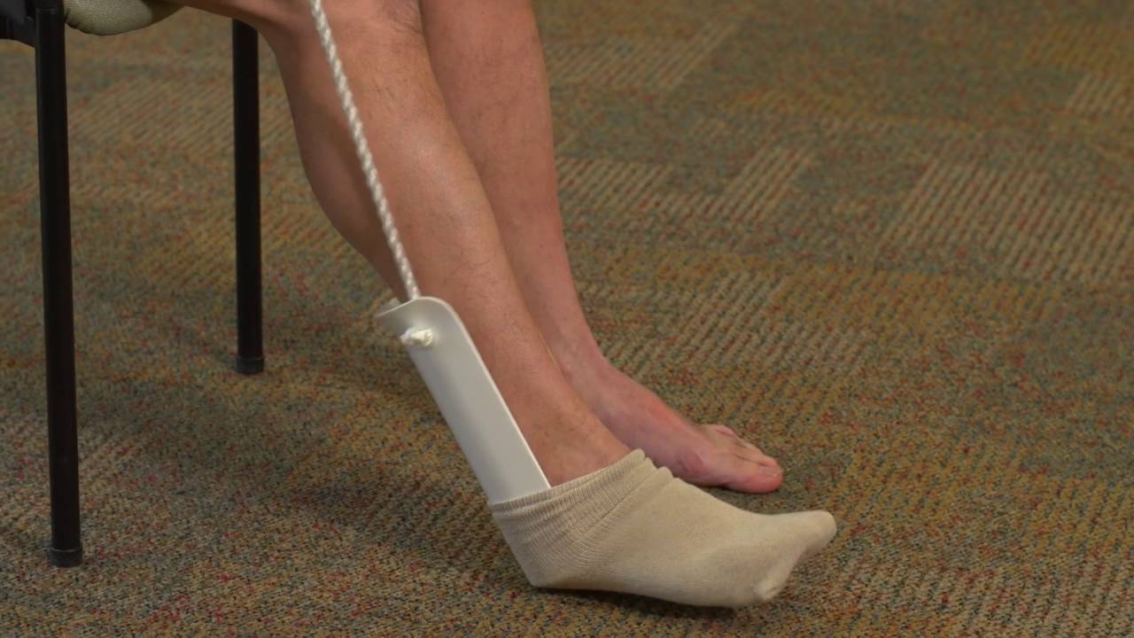 Occupational Therapy: Sock Aid Demonstration - YouTube