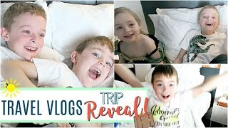 Travel Vlog | SURPRISE! Florida & Disney World Family Vacation Reveal