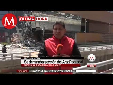 ÚLTIMA HORA: Se derrumba sección de la plaza Artz Pedregal
