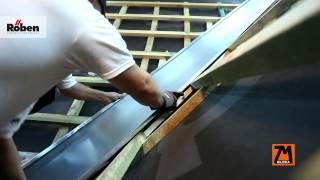 Montaż kosza dachowego z tytan-cynku ZM SILESIA