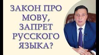 Закон про мову, запрет русского языка