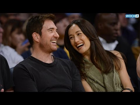Dylan McDermott And Maggie Q Are All Smiles At L.A. Lakers Game