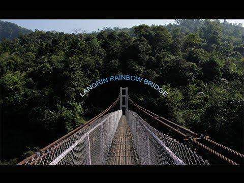 The longest Suspension Footbridge in Southwest Khasi Hills.