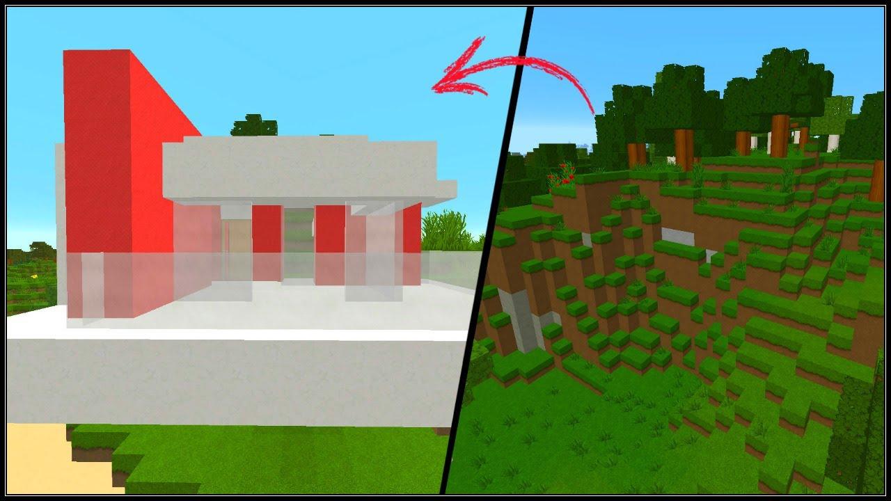 minecraft tuto comment faire une maison moderne dans la montagne youtube. Black Bedroom Furniture Sets. Home Design Ideas