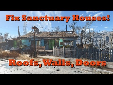 Fix Sanctuary Houses (Add Roofs, Walls & Doors): Fallout 4 Tips & Tricks Ep. 1