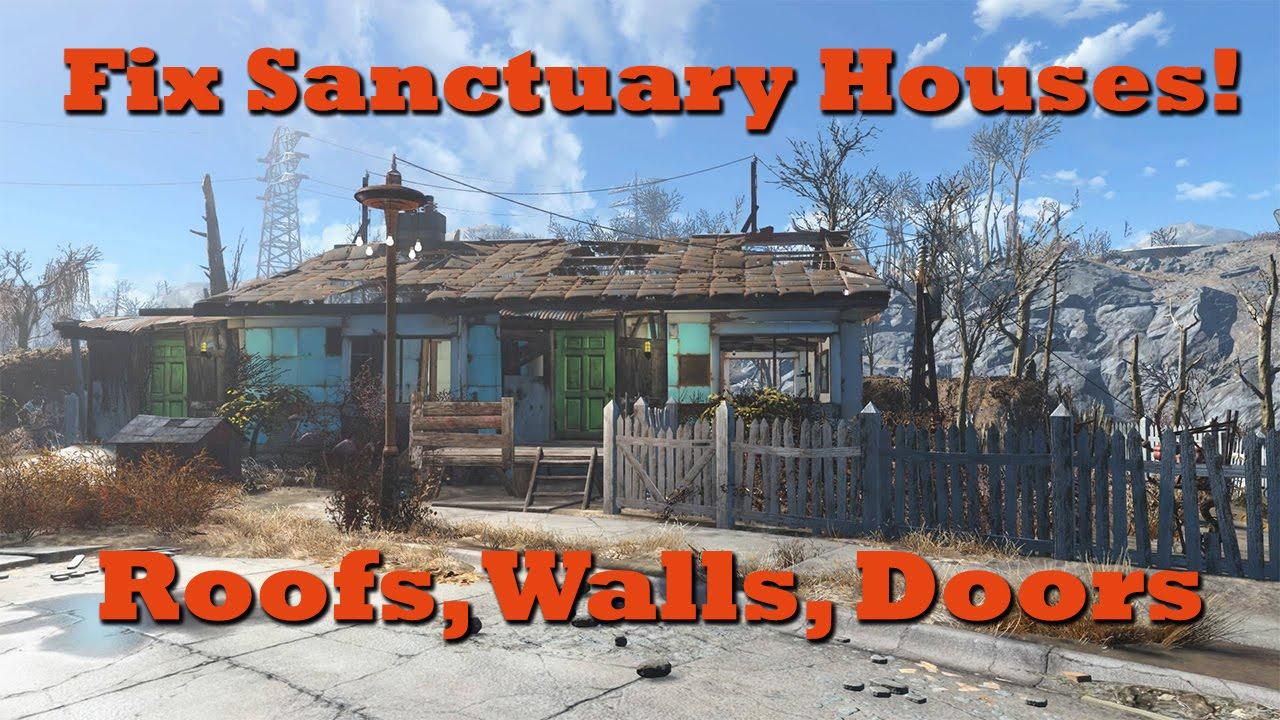 It\u0027s YouTube. Uninterrupted.  sc 1 st  YouTube & Fix Sanctuary Houses (Add Roofs Walls \u0026 Doors): Fallout 4 Tips ...