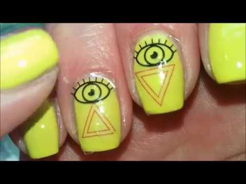 Nail Polish Illuminati Nail Art Design (water decals)