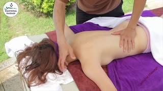 Korean Girl Back Oil Massage for low back pain