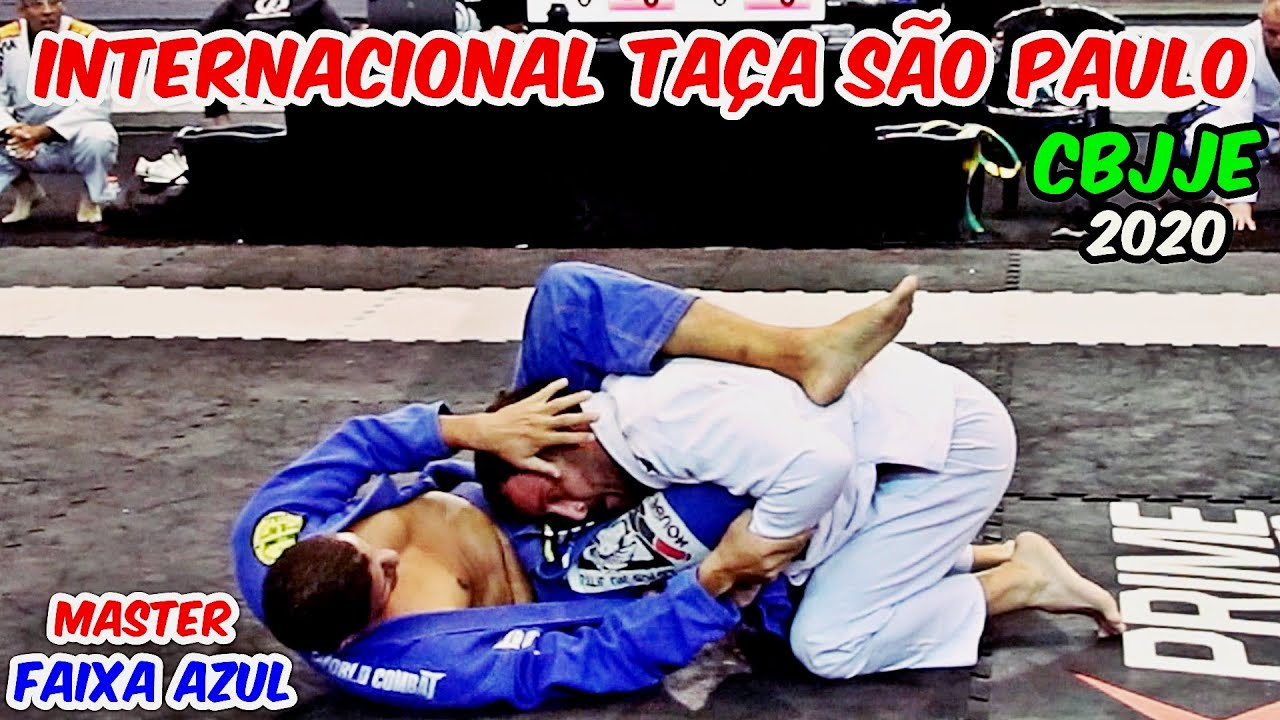 Jiu Jitsu - FAIXA AZUL - MASTER - CAMPEONATO INTERNACIONAL TAÇA SÃO PAULO - CBJJE - 2020