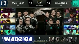 Team Liquid vs Immortals | Week 4 Day 2 S10 LCS Summer 2020 | TL vs IMT W4D2