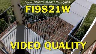 Foscam FI9821W HD IP Camera Video Stream Quality (HD)