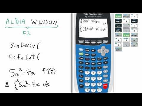 Shortcut Derivatives & Integrals TI 84 Calculator