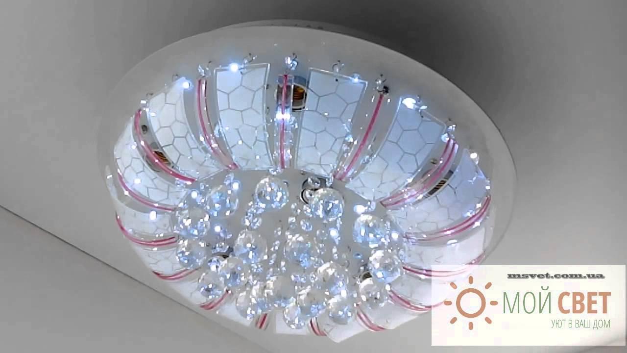 Обзор люстры с пультом музыкальная. Буше АРТ. 1-1999-6-CR-LED M Y .