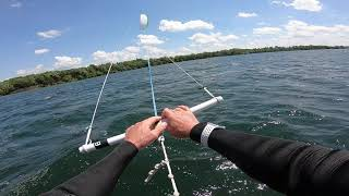 Kitefoil 3.7M BRM Cloud D before big blow at Waconia