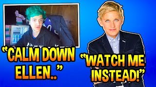 Ninja Reacts To Ellen *STEALING* His Views! *AWKWARD* Fortnite EPIC & FUNNY Moments