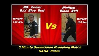 ♦♦Ninjitsu Black Belt (185 lbs.)  Vs  BJJ Blue Belt (135 lbs.)♦♦