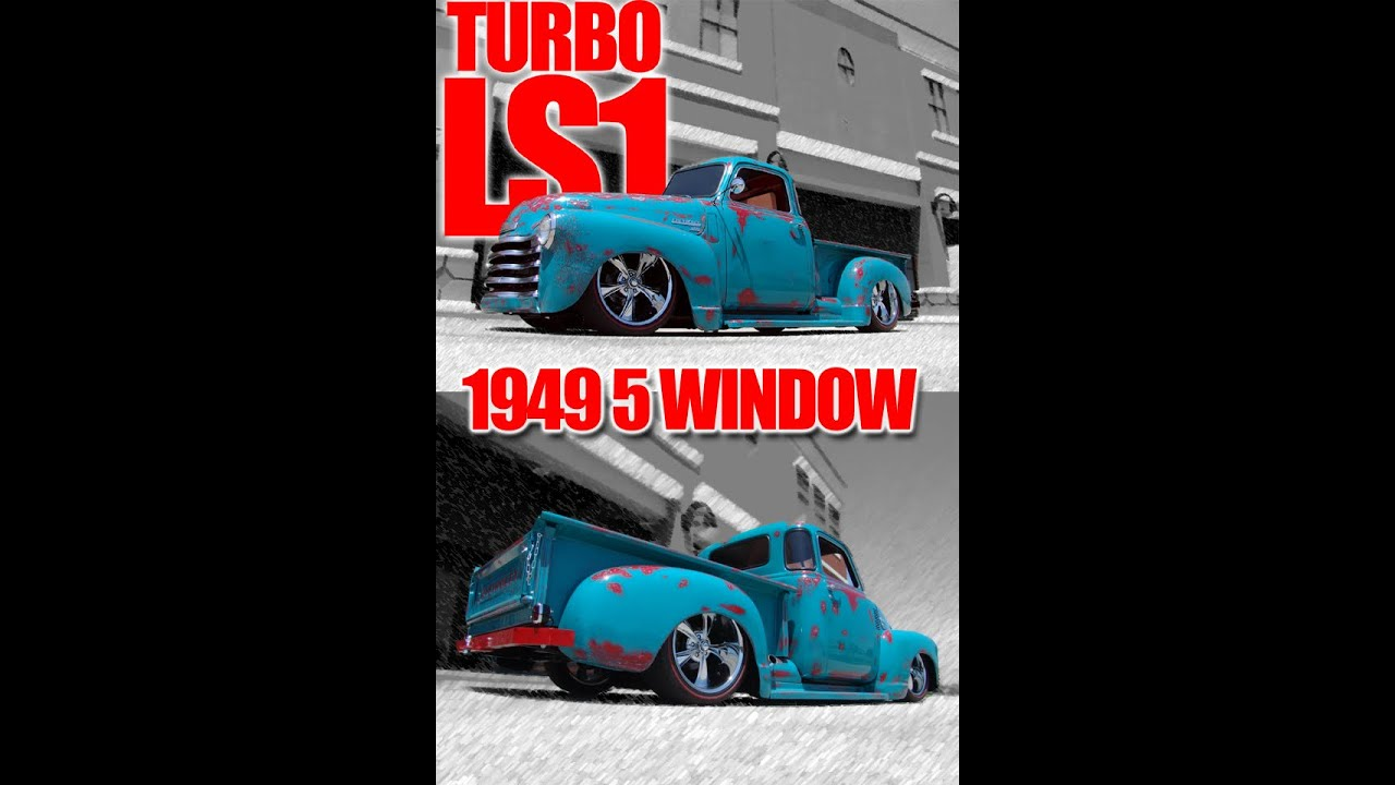 Wow!!! Turbo\'ed 49 5 Window Chevy Pickup With an LS1! Air Ride ...