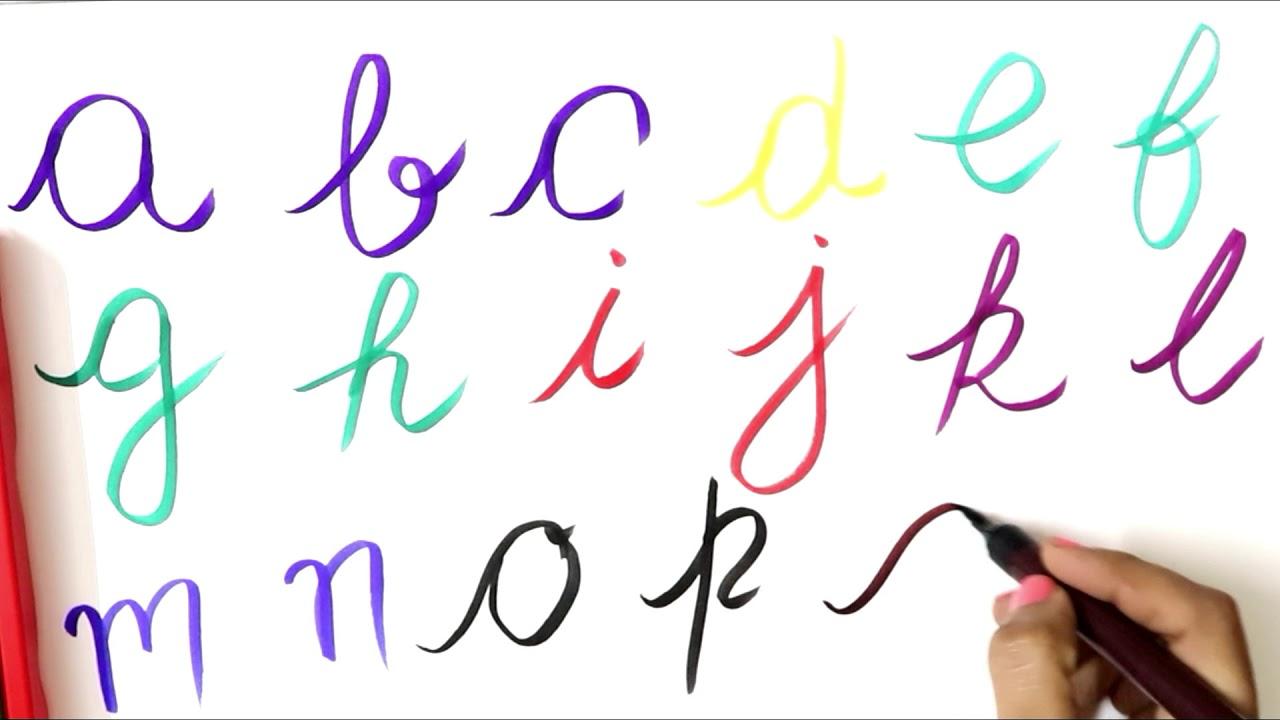 cursive writing abcd
