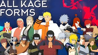 All Kage Forms Moveset+Combo+Awakening[Showcase] Naruto Shippuden Ultimate Ninja Storm 4