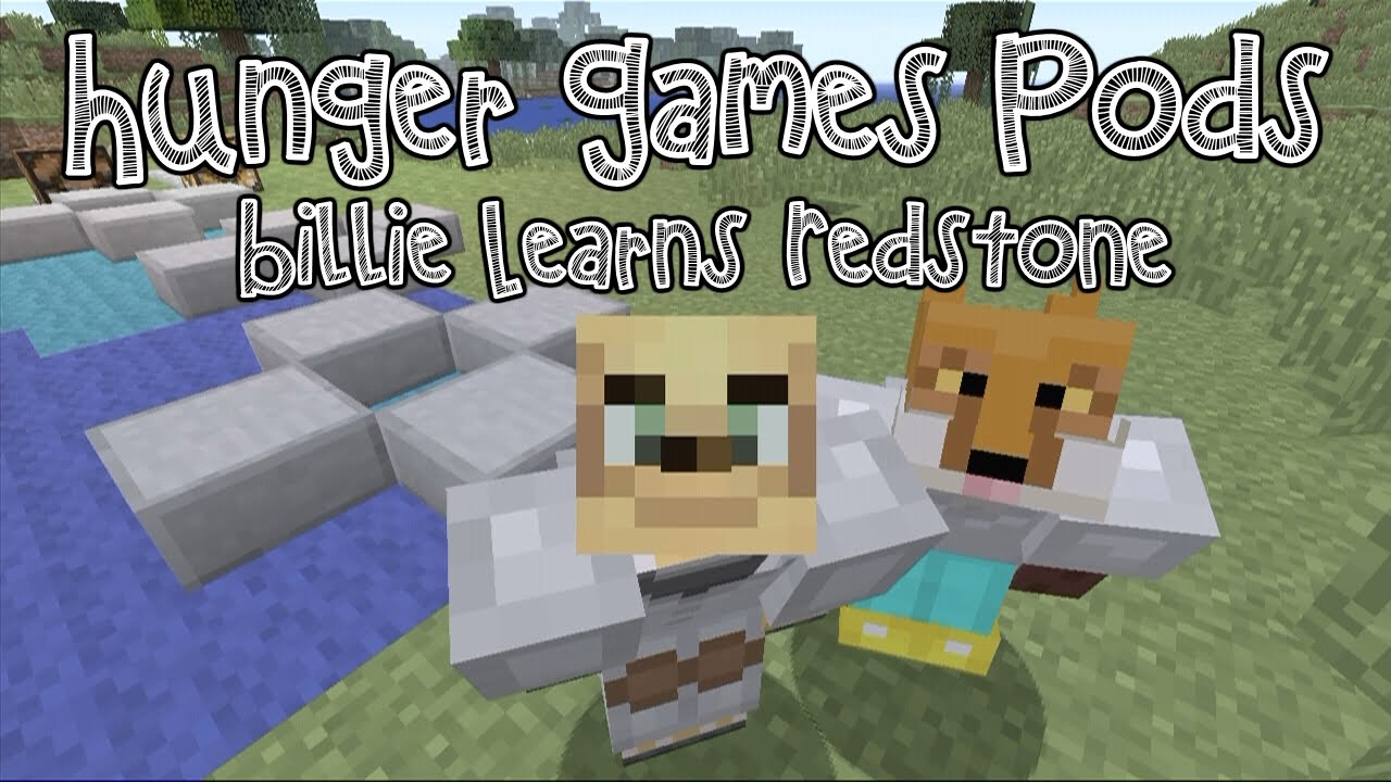 Minecraft how to make hunger games pods - YouTube