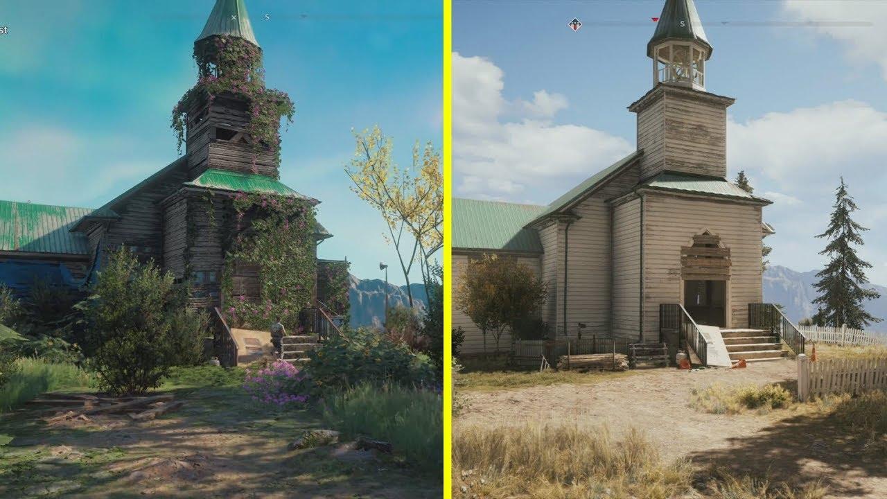 Far Cry New Dawn Vs Far Cry 5 Location Early Comparison Youtube