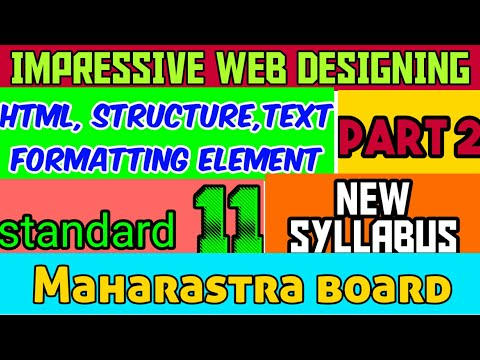 HTML tutorial : basic structure of HTML | Impressive web designing | part 2 | class 11 | MAHARASTRA thumbnail