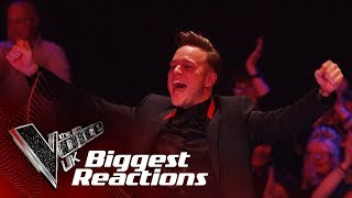 The Biggest Singer and Coach Reactions! | The Voice UK 2018