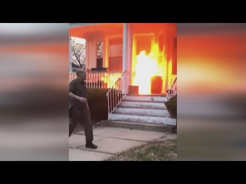 Family Thanks UPS Driver Who Rescued Them From House Fire
