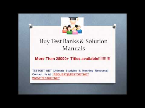 Buy Test Banks Solution Manuals
