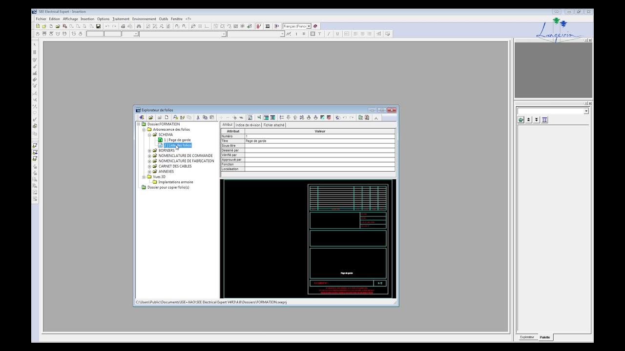 001 Création D Un Dossier Avec Repérage Par Folio Tutorial See Electrical Expert V4r3