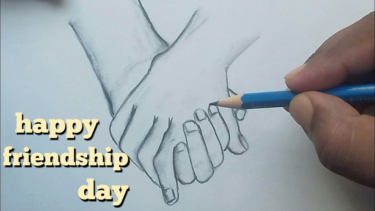 How to draw friendship day drawing ...