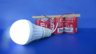 Free energy salt water with LED light bulbs - Experiment DIY science projects at home