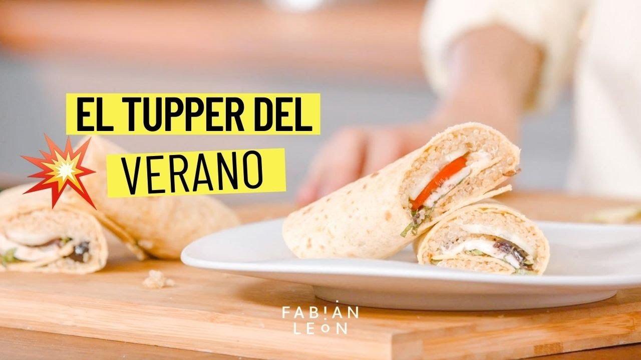WRAP o tortita DE QUINOA | Comida fácil y rápida PARA LLEVAR