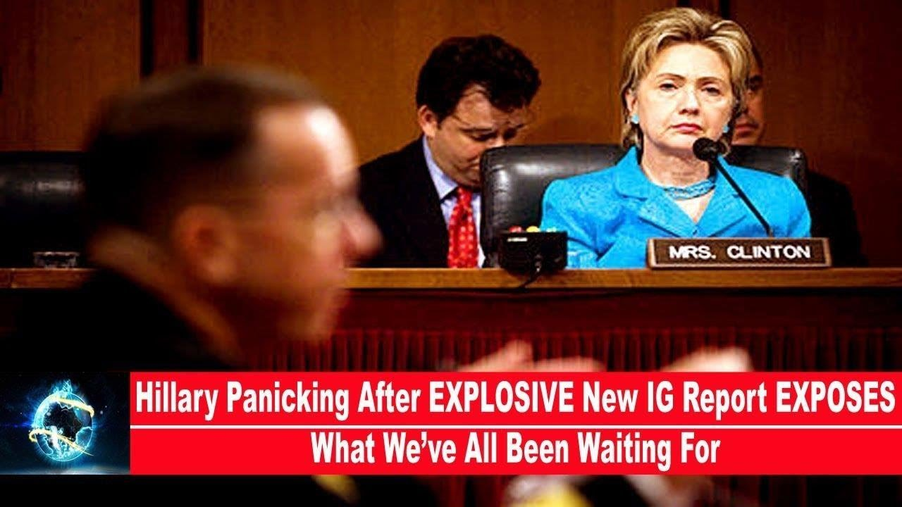 Hillary Panicking After EXPLOSIVE New IG Report EXPOSES What We've All Been Waiting For(VIDEO)!!!