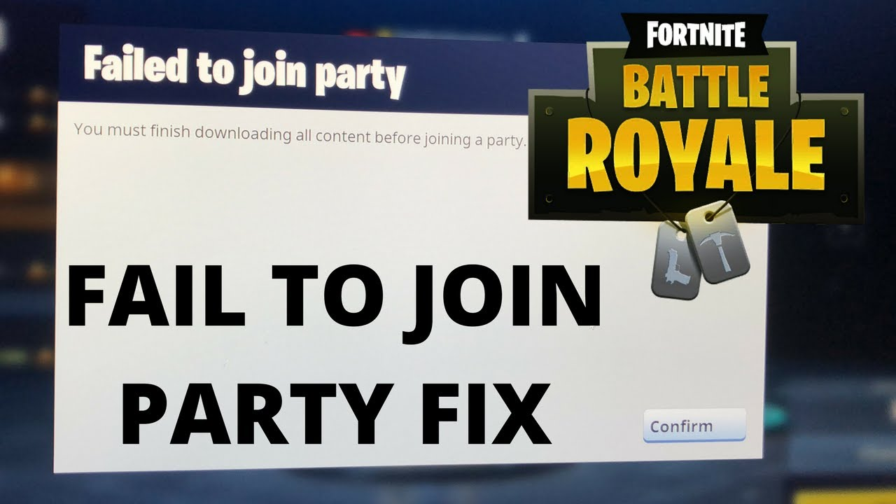 Fortnite Error FIx PC ( Failed To Join Party)