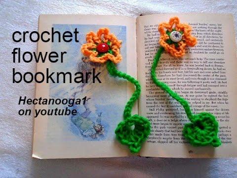 Crochet Flower Bookmark Easy Beginner Project Teacher Gift Youtube