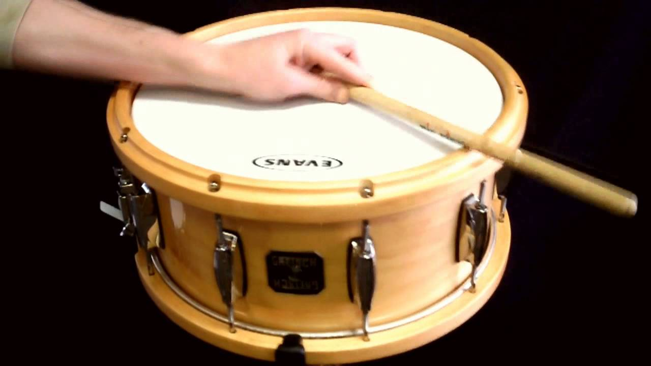 gretsch maple snare drum with wood hoops youtube. Black Bedroom Furniture Sets. Home Design Ideas