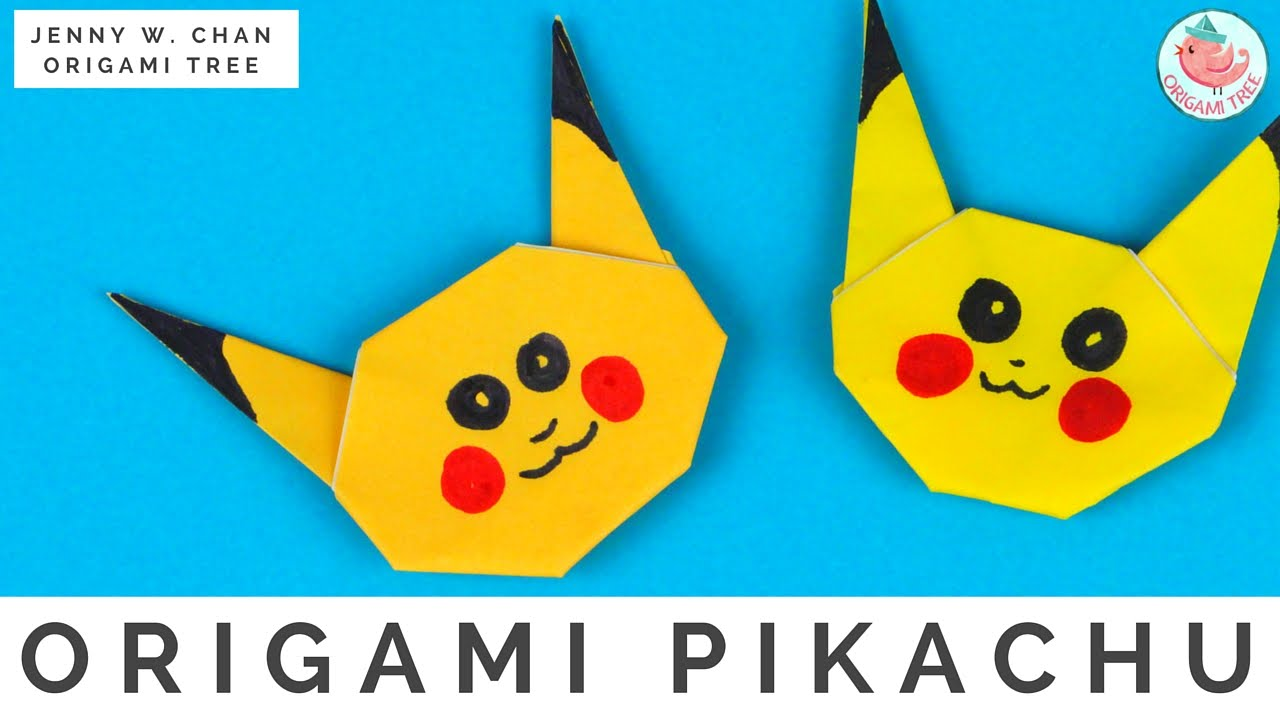 Papercraft Pokémon Origami Crafts - How to Fold Origami Pikachu Pokémon Go - Easy Origami Instructions for Kids