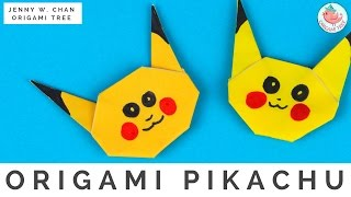 Pokémon Origami Crafts - How to Fold Origami Pikachu from Pokémon Go - Easy Origami Instructions