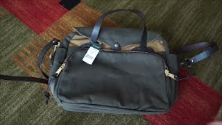 Filson Padded Computer Briefcase Bag - rare two tone color